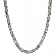 Men's Stainless Steel Byzantine Necklace