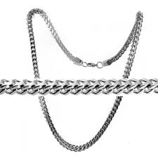 Franco Cuban Stainless Steel Chain and Bracelet