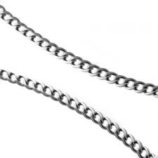 Stainless Steel Necklace Curb Type Chain (22 inches)