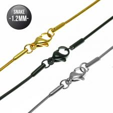 Snake Chain in Stainless Steel