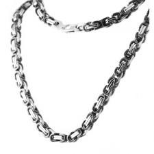 Black Byzantine Necklace & Bracelet Set