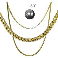 Wholesale Two tone Franco Cuban Chain