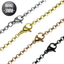 Royal Stainless Steel Necklace and Color PVD