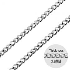 Cuban Style Chain in Stainless Steel 2.6mm