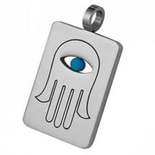 Gorgeous Judaica Stainless Steel Etched Pendant