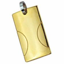 Stainless Steel Pendant with PVD Gold