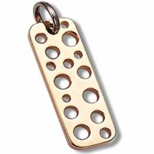 Stainless steel golden pendant with punched holes