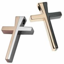 Stainless Steel Cross -  Rose Gold and Blackl