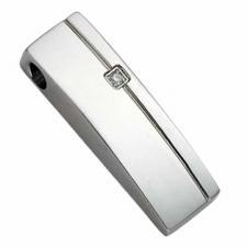 Stainless Steel Pendant with Diamond