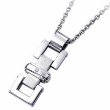Stainless Steel Pendant With Diamond