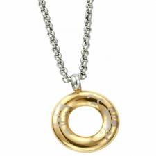 Rose Gold PVD Circular Pendant With Design-- Certain Lady Collection