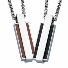 Stainless Steel Pendant With Leather