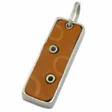 Stainless steel leather pendant