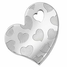 Wholesale Puzzle Heart Pendant in Steel