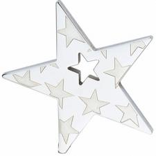 Stainless Steel Star Pendant With Engraved Stars Design