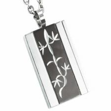 Wholesale Stainless Steel Pendant With Black PVD and Etched Lizard Design