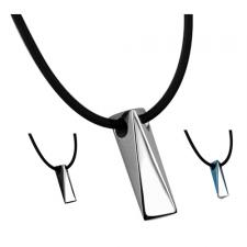 Modern Stainless Steel Triangular Prism Pendant