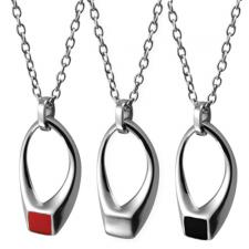 Modern Stainless Steel Pendant With Optional Enamel Accent