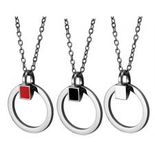 Circular Stainless Steel Pendant With Optional Enamel Accent