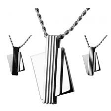 Contemporary Stainless Steel Pendant