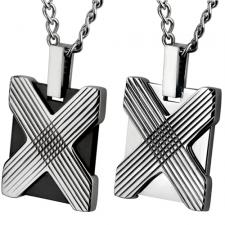 Stainless Steel Pendant With Geometric