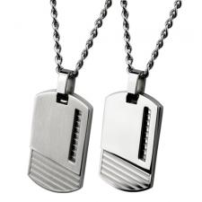 Modern Stainless Steel Dog Tag Pendant