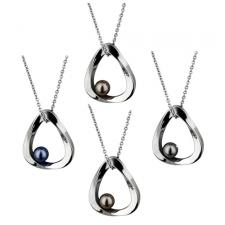 Stainless Steel Pendant With Ornamental Pearl Design