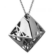 Gorgeous Stainless Steel Three Dimensional Octahedron Pendant
