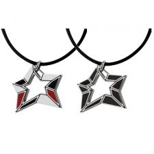 Stainless Steel Star Pendant With Cut Star In Center