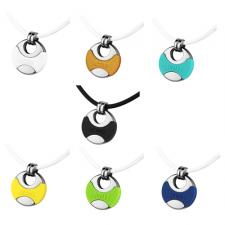 Very Sporty Stainless Steel And Silicone Pendant With ACTIVE Inscription
