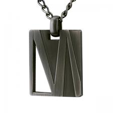 Stainless Steel, Antique Grey, Pendant, Modern Lines