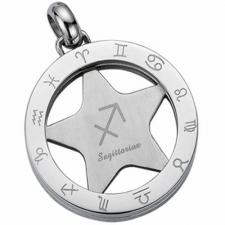 Gorgeous Stainless Steel Zodic Sign Pendant - Sagittarius