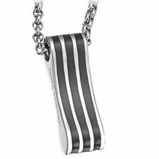 Gorgeous Stainless Steel with Black PVD Pendant