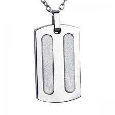 Stainless Steel, Pendant, Sandblast Texture.