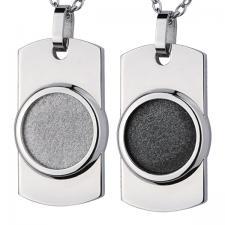 Stainless Steel, Pendant, Circle Shape, Sandblast Texture
