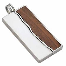 Stainless Steel Wood Pendant