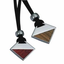 Gorgeous Stainless Steel with Wood Pendant