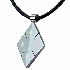 Tungsten Pendant with Leather necklace