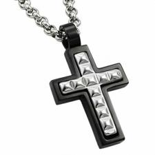 Very Nice Tungsten Carbide Cross Pendant With Outter Black PVD Lining