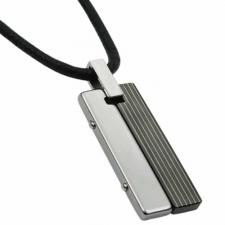 Very Nice Rectangular Tungsten Carbide Pendant In Rose Gold Or Black PVD