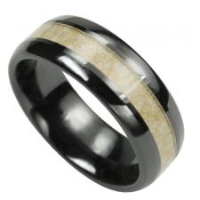 Black & Light Brown Ceramic Ring