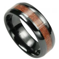 Black & Dark Brown Ceramic Ring
