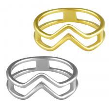 Stainless Steel Geometric Ring