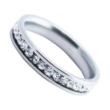 Stainless Steel Fully CZ Encrusted Ring