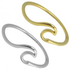 Stainless Steel Surf Wave Ring