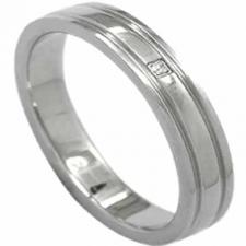 wholesale stainless steel and diamond ring