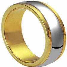 Wholesale stainless steel and gold plated ring