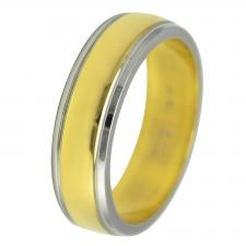 stainless steel and gold plated ring