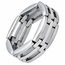 Stainless Steel Ring with Links Design