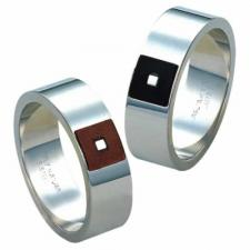 Wholesale Stainless Steel Simply Natural Leather Ring